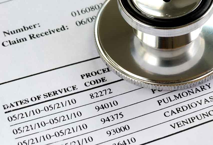 Medical code sheet